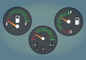 Illustration vectorielle Jauge de carburant vecteur