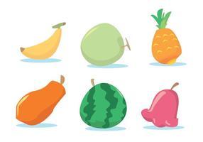 Ensemble de vecteur de fruits