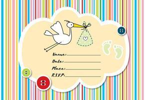 Invitation de douche de bébé vecteur