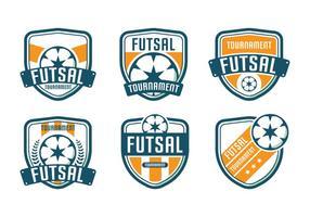 Tournoi du logo de futsal vecteur