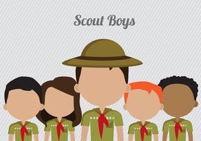 Vecteur boy scouts gratuit