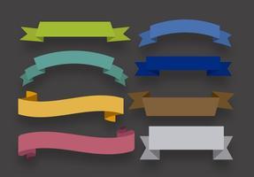 Ensemble de rubans colorés vecteur