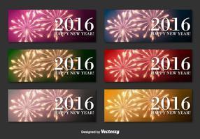 Bannières du Nouvel An 2016 vecteur