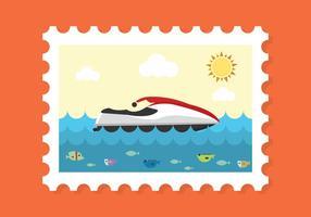 Vector de timbres d'été