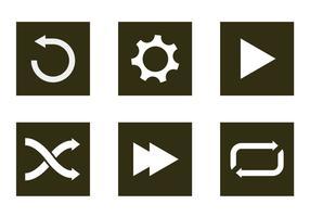 Icônes vectorielles vecteur