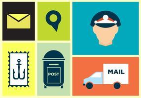 Icônes de vecteur postal