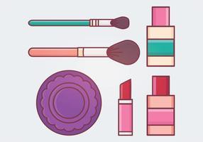 Illustration vectorielle de maquillage vecteur