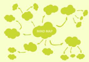 Vecteur d'élément de cartographie d'esprit libre