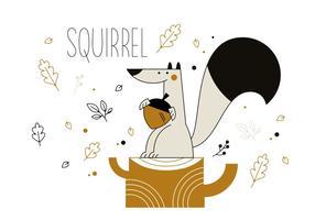 Vecteur écureuil gratuit
