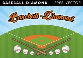 Vecteur libre de diamant de baseball