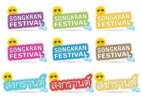 Titres de Songkran vecteur