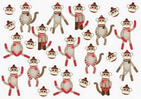 Vecteur de singes de chaussettes gratuit