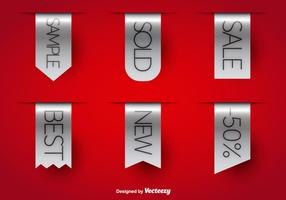 Vente étiquettes grises vecteur
