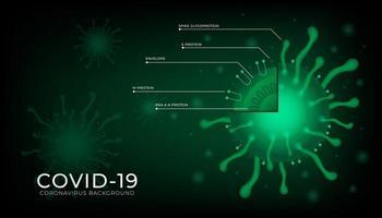 nouveau fond de coronavirus 2019-ncov vecteur