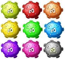 bouchent ensemble de cellules de dessin animé de virus