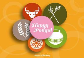 Happy pongal background coloré vecteur