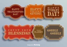 Les éléments du jour de Thanksgiving