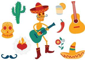 Vecteurs libres du Mexique vecteur