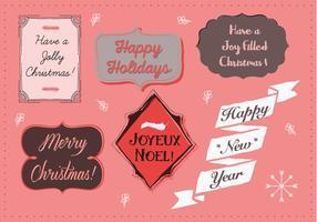Illustration de fond de Noël gratuite avec typographie