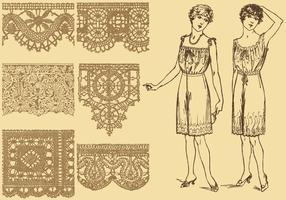Lacets de style ancien vecteur