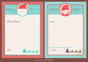 Vecteur de conception de santa cards gratuit