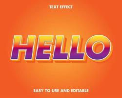 effet de texte dégradé jaune et violet moderne vecteur