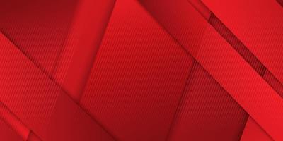 bannière avec des bandes superposées rouges inclinées vecteur