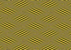 fond d'illusion d'optique ondulée jaune et noir vecteur