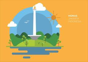 Monas indonesia vector