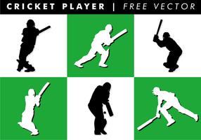 Vecteur de joueur de cricket gratuit