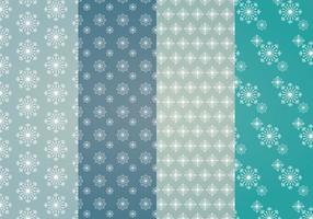 Patterns vectoriels de flocons de neige