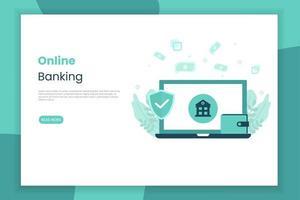 page de destination des services bancaires en ligne vecteur
