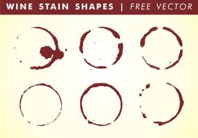 Formes de taches de vin vecteur gratuit
