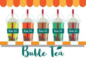 Vecteur de thé aux bulles