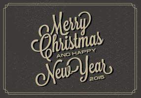 Free Christmas Typography vector backgorund