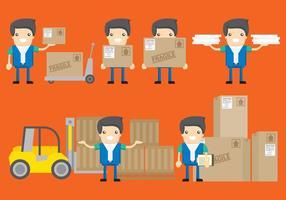 Personnages de livraison vecteur