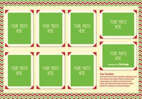 Modèle de collage de photo de Noël vecteur