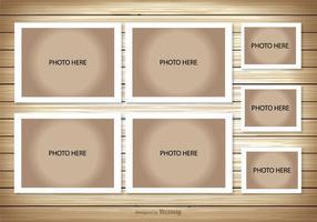 Modèle de collage photo vecteur