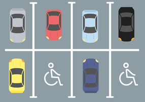 Voiture de stationnement pour handicapés gratuite vecteur