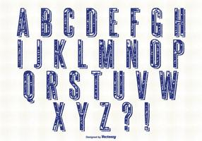 Ensemble Alphabet Style Rétro vecteur