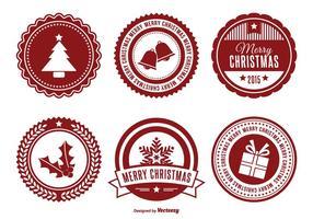Ensemble de badges de Noël assorti vecteur