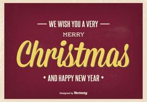 Illustration vintage de salutation de Noël
