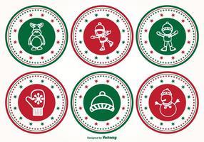 Set de timbres de Noël vecteur