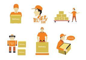 Illustration de l'homme de livraison vecteur
