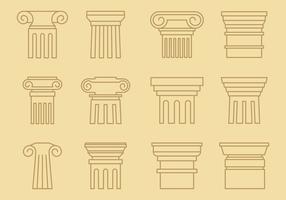 Style de ligne des piliers vecteur