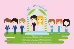 Personnages de mariage vecteur