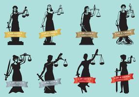 Femmes de justice vecteur