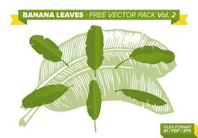 Feuilles de bananes pack vecteur gratuit vol. 2