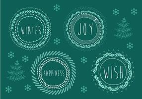 Illustration de fond de Noël gratuite vecteur