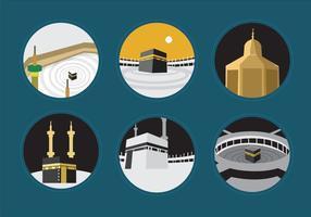 Kaabah à Makkah vecteur